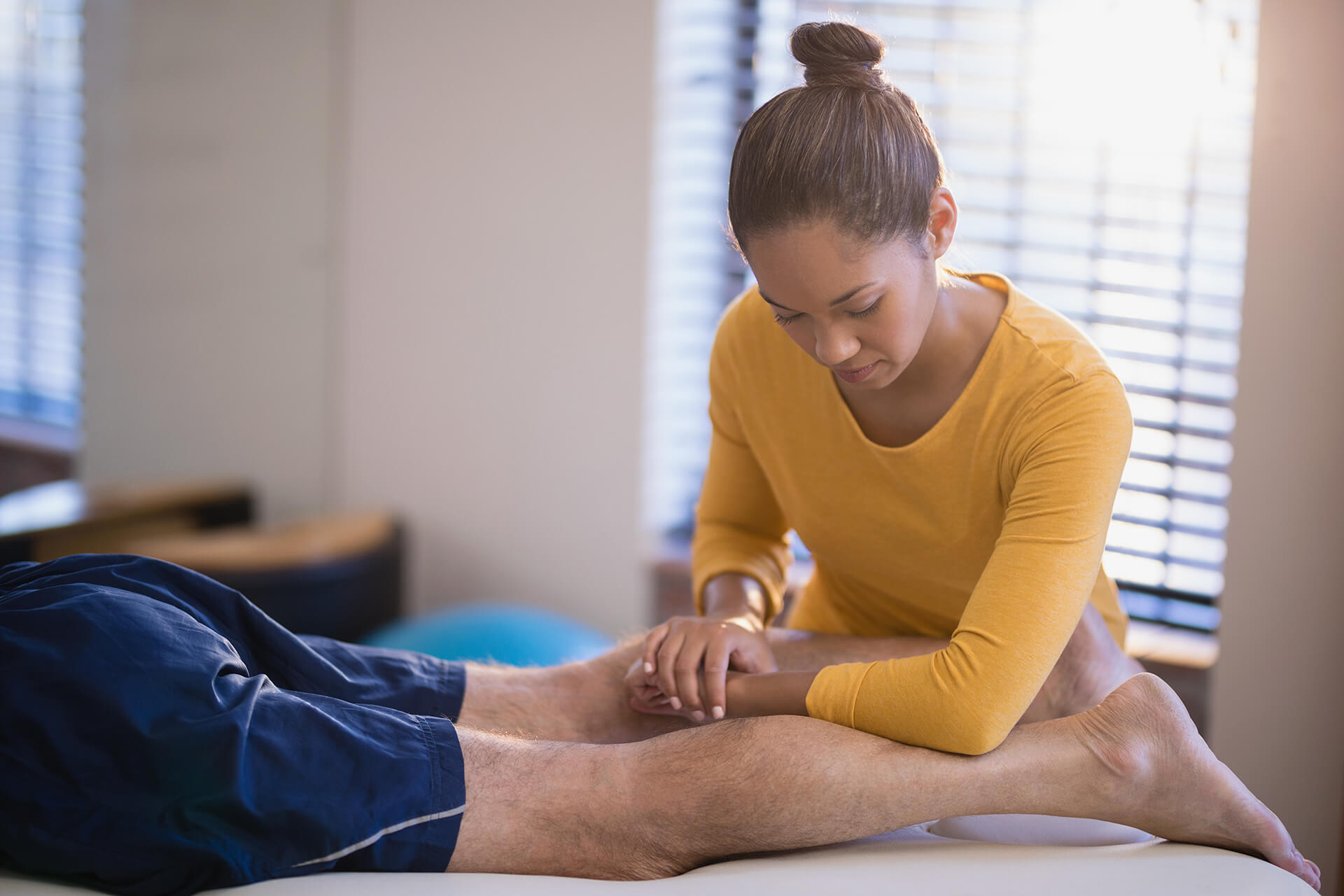 physical therapy for leg injury