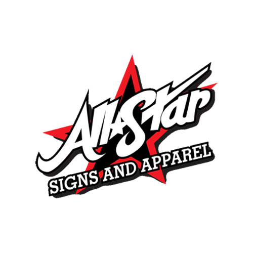 all star signs and apparal 5k sponsor logo