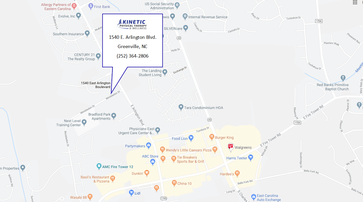 kinetic physical therapy map